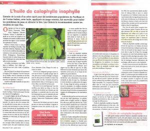L'huile de calophylle inophylle