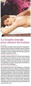 La lympho-énergie pour chasser les toxines