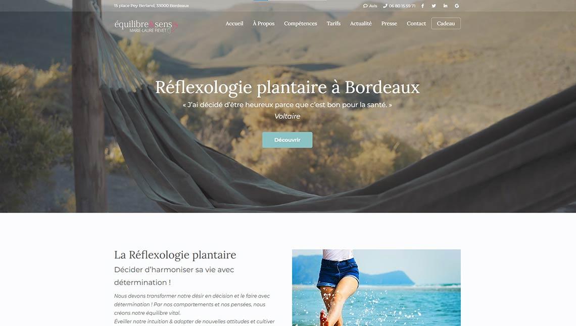 Le site Équilibre & Sens fait peau neuve : Réflexologie plantaire Bordeaux